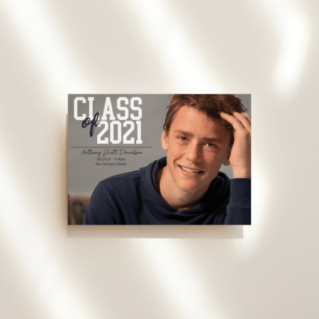 College Block Graduation Announcement