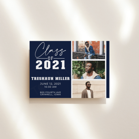 College Script Graduation Announcement