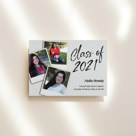 Photograph Graduation Announcement
