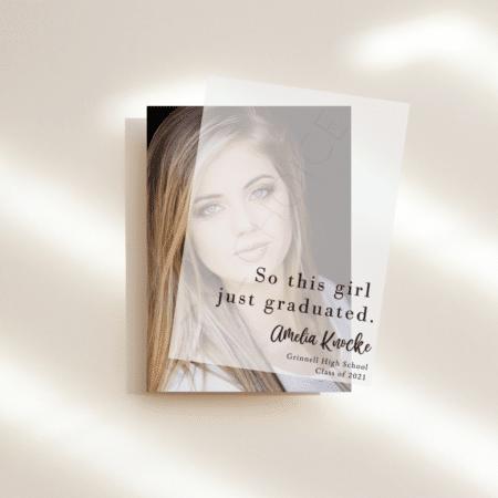 Just Graduated Graduation Announcement