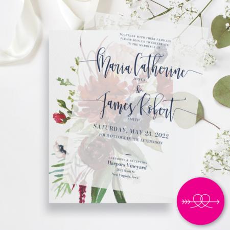 Winter Romance Wedding Invitation
