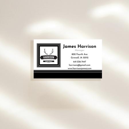 Modern Minimal Horizontal Business Cards