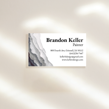 Watercolor Ripples Business Cards