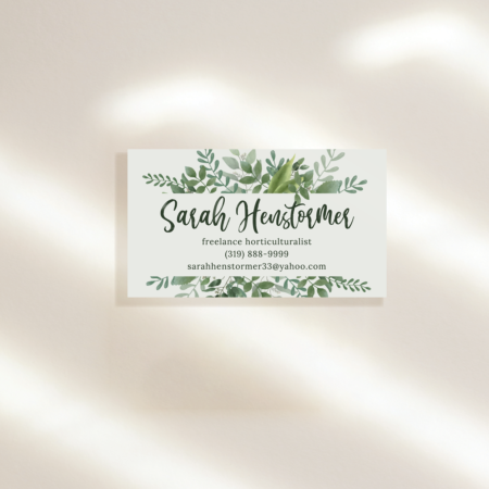 Green Splendor Business Cards